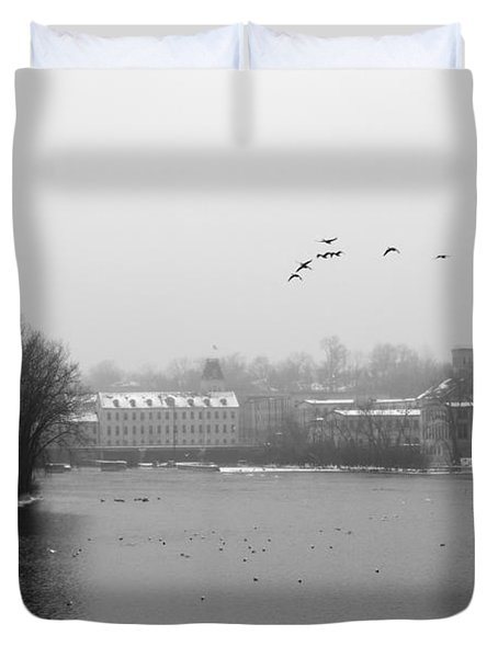 View Of The Mills Duvet Cover