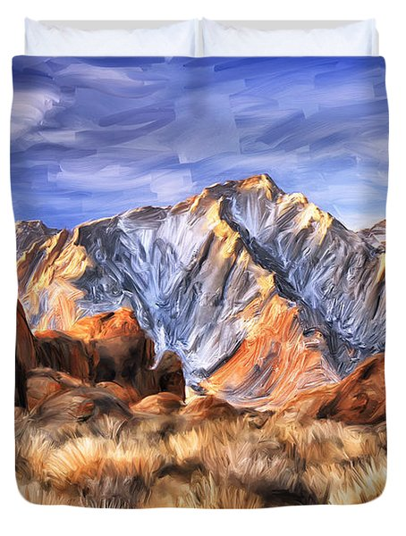 View Of The Sierras Duvet Cover by Dominic Piperata