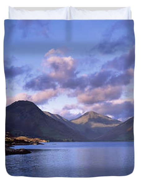View Of Wastewater, Located In The Lake Duvet Cover by Axiom Photographic