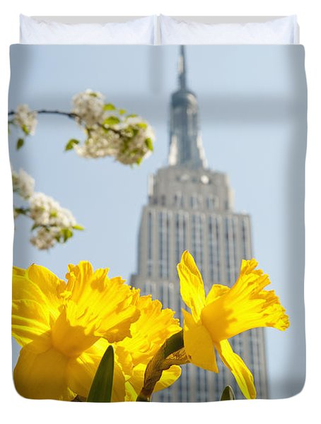 Views Of The Empire State Building And Duvet Cover by Axiom Photographic