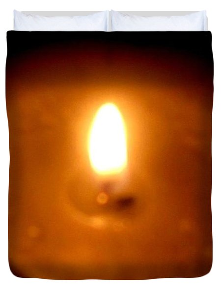Duvet Cover featuring the photograph Vigil by Maria Urso