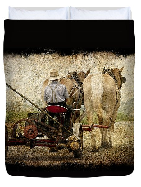 Vintage Amish Life D0064 Duvet Cover by Wes and Dotty Weber