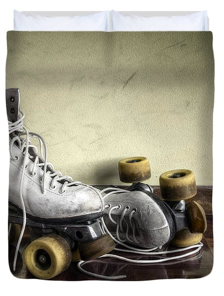 Vintage Roller Skates  Duvet Cover by Carlos Caetano