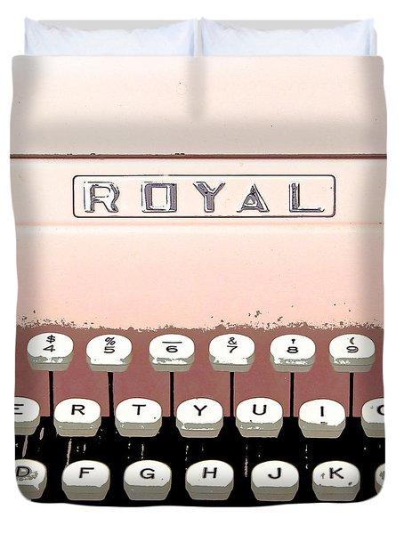 Vintage Royal Typewriter Duvet Cover by Glennis Siverson
