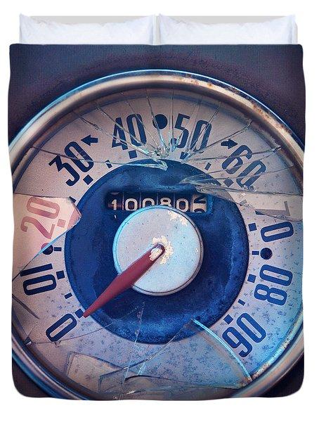 Vintage Speed Indicator  Duvet Cover by Priska Wettstein