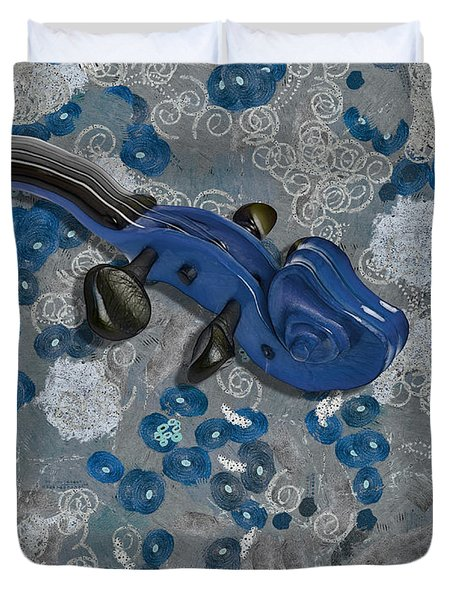 Violinelle - V02-09a Duvet Cover by Variance Collections