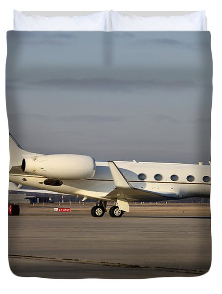 Vip Jet C-37a Of Supreme Headquarters Duvet Cover by Timm Ziegenthaler
