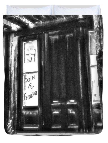 Virginia City Ghost Town Door II Duvet Cover by Susan Kinney