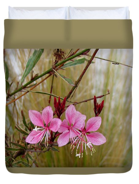 Visiting The Pink Guara Duvet Cover