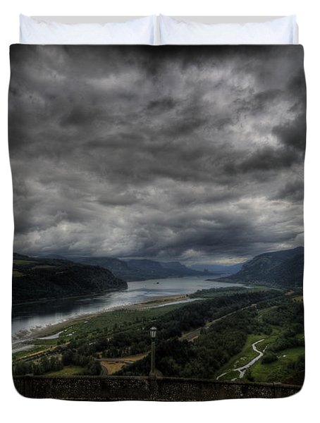 Vista House View Duvet Cover