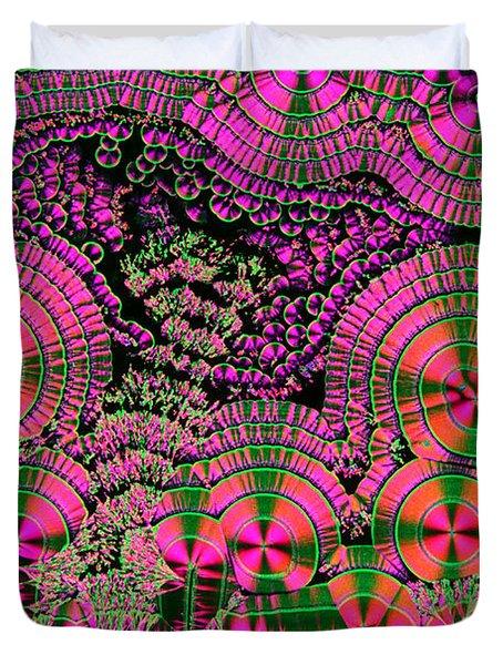 Vitamin C Crystals Spikeberg Duvet Cover by M I Walker