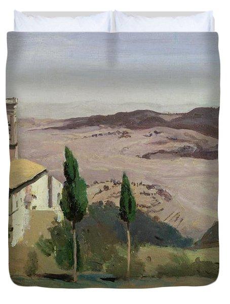 Volterra Duvet Cover by Jean Baptiste Camille Corot