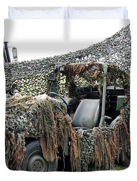Vw Iltis Of The Special Forces Group Duvet Cover by Luc De Jaeger