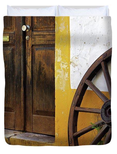 Wagon Wheel Duvet Cover by Carlos Caetano