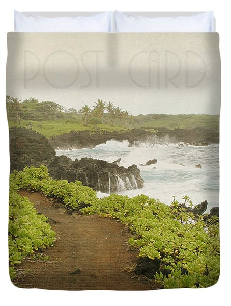 Waianapanapa Duvet Cover by Sharon Mau