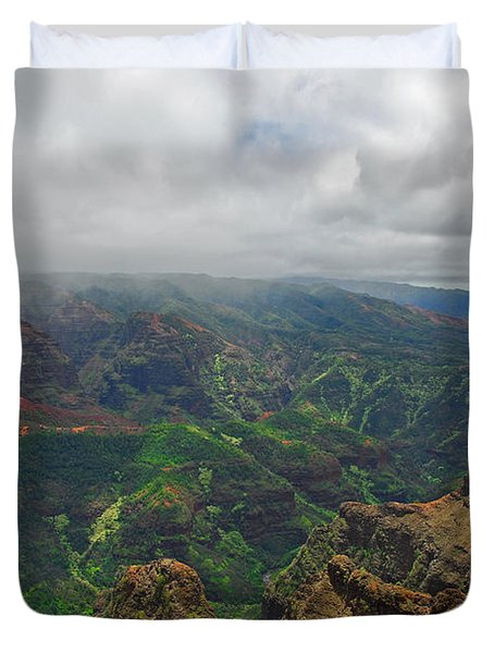 Waimea Canyon Weather Duvet Cover by Lynn Bauer