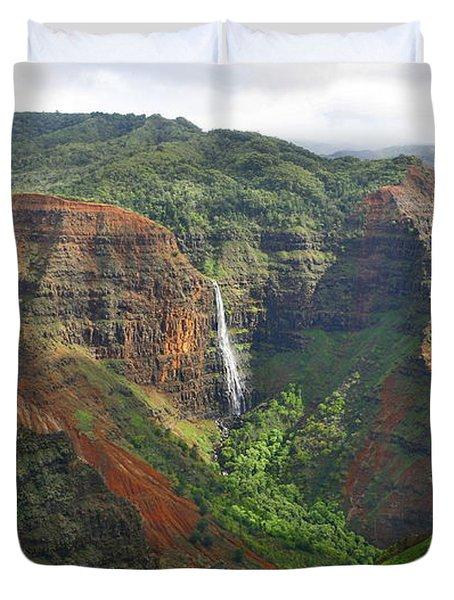 Waimea Falls Duvet Cover