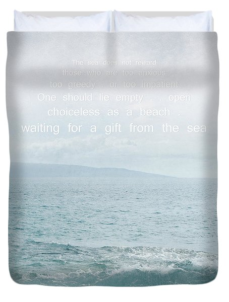Waiola Water Of Life Duvet Cover by Sharon Mau