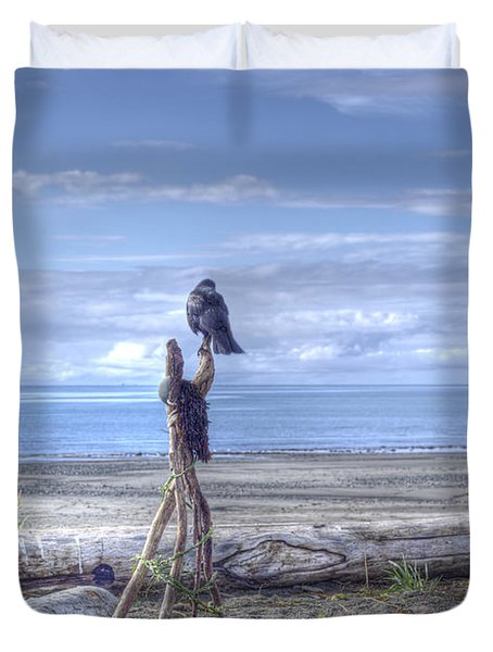 Duvet Cover featuring the photograph Waiting And Watching by Michele Cornelius