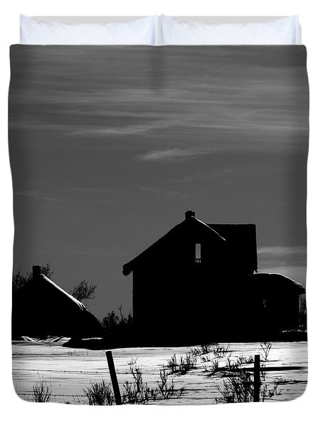 Waiting By The Pain Duvet Cover by Jerry Cordeiro