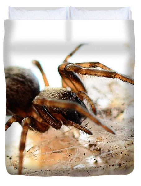 Duvet Cover featuring the photograph Waiting by Chriss Pagani