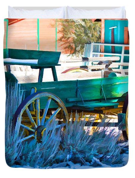Waiting Wagon Duvet Cover