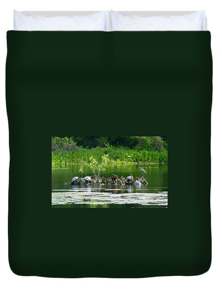 Wakulla Springs Wildlife Duvet Cover