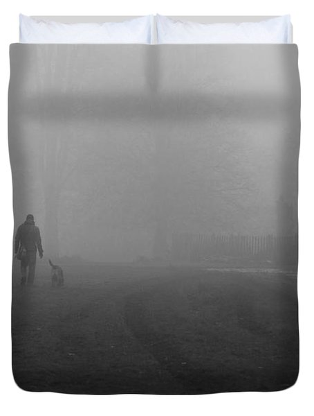 Walk The Dog Duvet Cover
