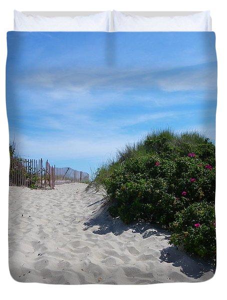 Walking Through The Dunes Duvet Cover