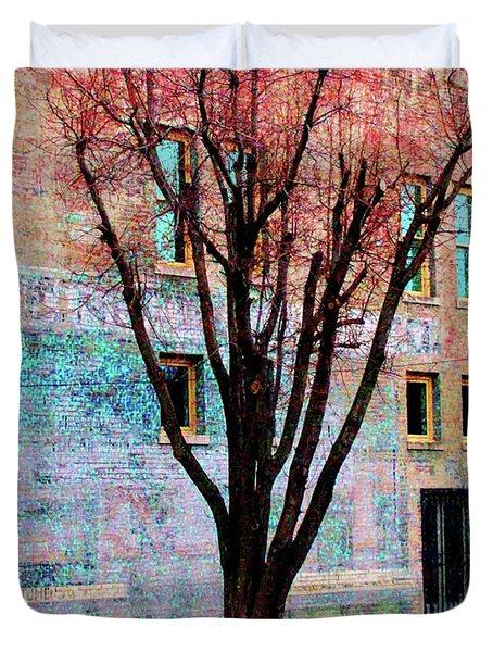 Duvet Cover featuring the photograph Wall Wth Secrets by Lizi Beard-Ward