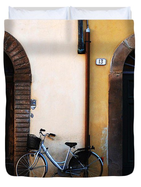 Walled City Of Lucca Duvet Cover by Bob Christopher