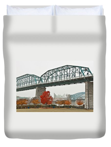 Walnut Street Bridge Duvet Cover