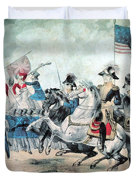War Of 1812 Battle Of New Orleans 1815 Duvet Cover by Photo Researchers