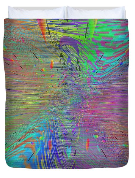 Warp Of The Rainbow Duvet Cover by Tim Allen