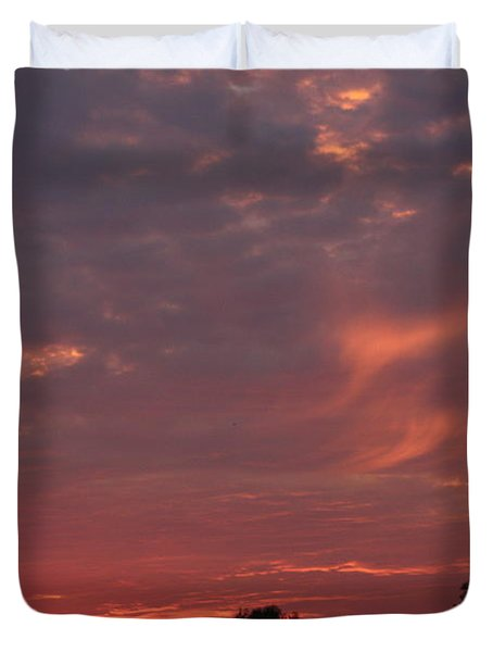 Warwickshire Sunset Duvet Cover by Linsey Williams