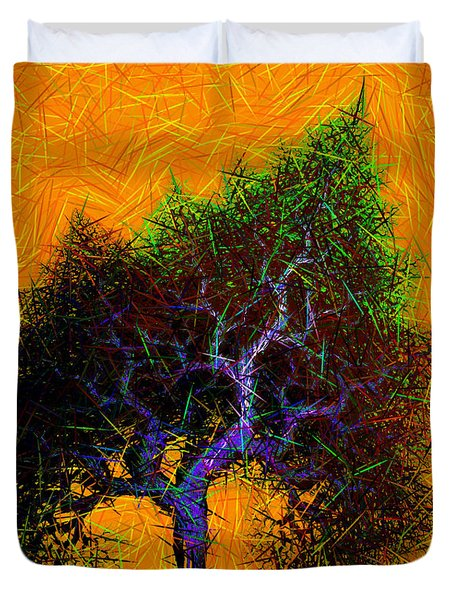 Was A Crooked Tree  Grunge Art Duvet Cover