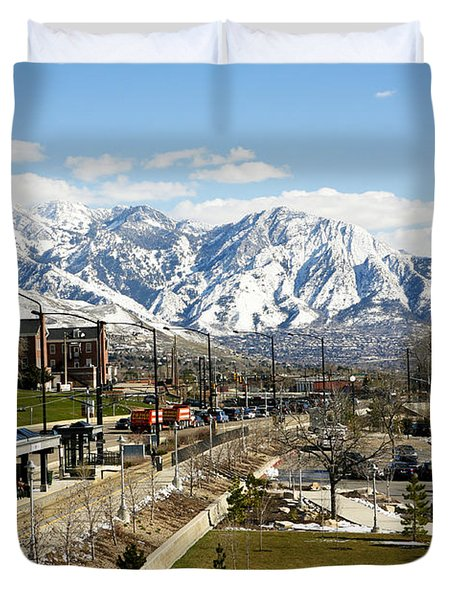 Wasatch Mountain Range Duvet Cover by Marilyn Hunt