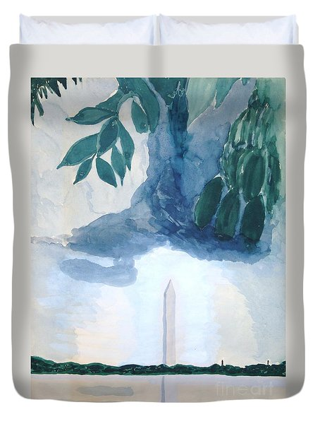 Washington Monument Duvet Cover by Rod Ismay