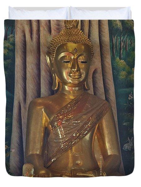 Wat Kaewjamfa Ubosot Principal Buddha Dthb1072 Duvet Cover