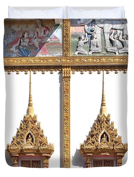 Wat Kan Luang Ubosot Windows Dthu189 Duvet Cover by Gerry Gantt