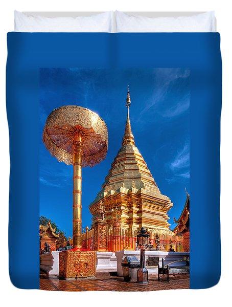 Wat Phrathat Doi Suthep Duvet Cover by Adrian Evans