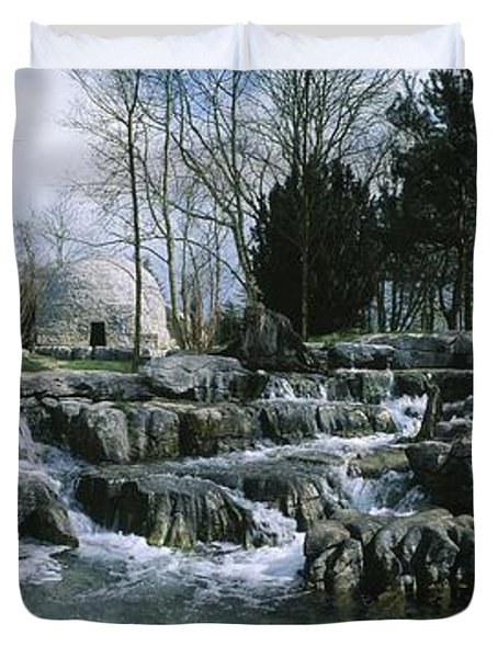 Water Flowing In A Garden, St. Fiachras Duvet Cover by The Irish Image Collection
