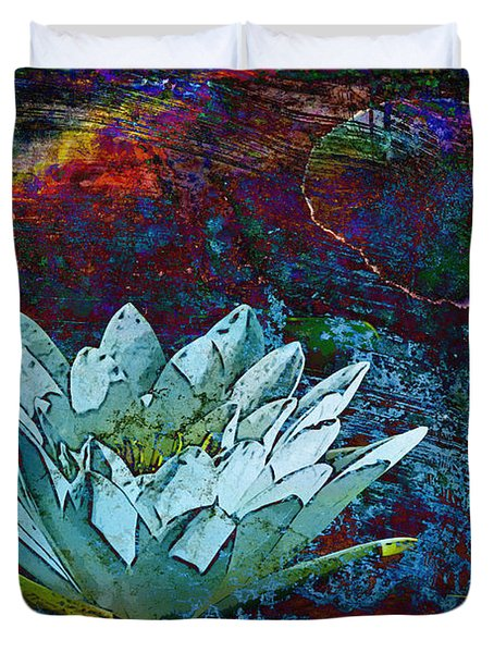 Water Lily Abstract Duvet Cover by Phyllis Denton