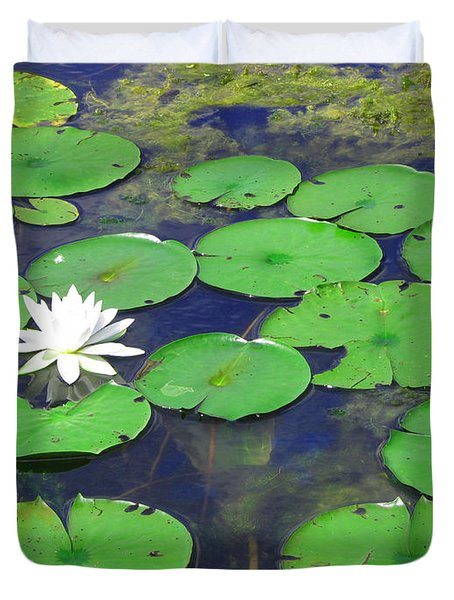 Water Lily Duvet Cover by Clara Sue Beym