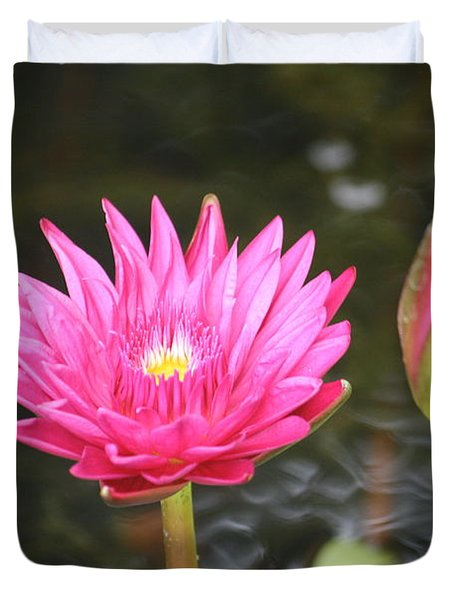 Duvet Cover featuring the photograph Water Lily by Donna  Smith