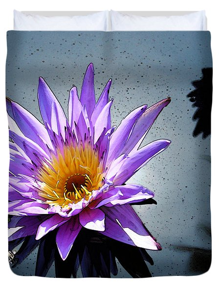 Water Lily Dream At Fairchild 2 Duvet Cover by Olivia Novak
