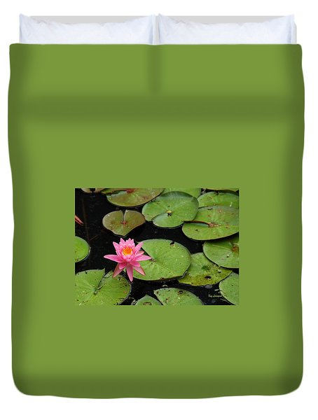 Water Lily Duvet Cover by Kay Lovingood