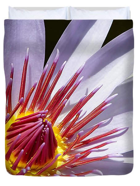 Water Lily Soaking Up The Sun Light Duvet Cover by Sabrina L Ryan