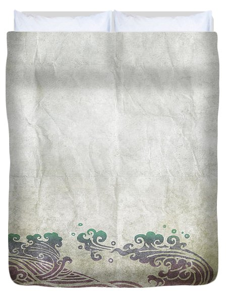 Water Pattern On Old Paper Duvet Cover by Setsiri Silapasuwanchai