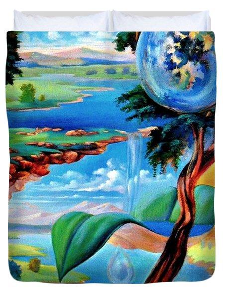 Water Planet Duvet Cover by Leomariano artist BRASIL